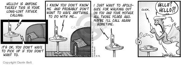 Comic Strip Darrin Bell  Candorville 2005-08-15 ago