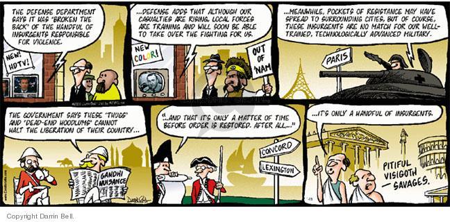 Comic Strip Darrin Bell  Candorville 2005-01-16 defense
