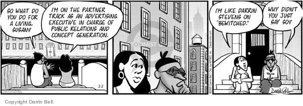 Comic Strip Darrin Bell  Candorville 2005-02-02 Stevens