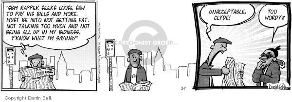 Comic Strip Darrin Bell  Candorville 2005-02-07 vocabulary