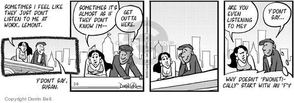 Comic Strip Darrin Bell  Candorville 2005-02-09 communication