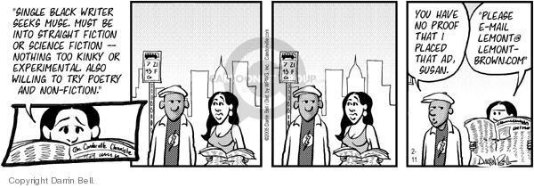 Comic Strip Darrin Bell  Candorville 2005-02-11 online date