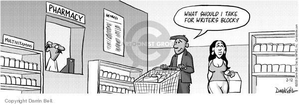 Comic Strip Darrin Bell  Candorville 2005-02-12 pharmacy