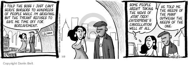 Comic Strip Darrin Bell  Candorville 2005-02-22 fast