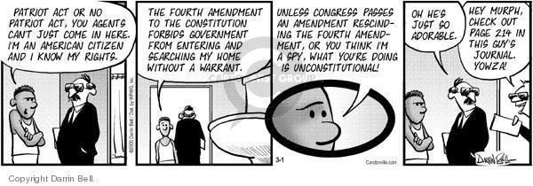 Comic Strip Darrin Bell  Candorville 2005-03-01 terrorism surveillance