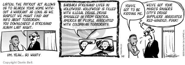Comic Strip Darrin Bell  Candorville 2005-03-02 internet surveillance