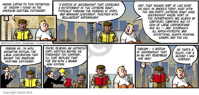 Comic Strip Darrin Bell  Candorville 2005-03-06 fascism