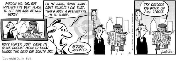 Comic Strip Darrin Bell  Candorville 2005-03-07 meat