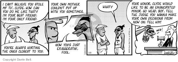 Comic Strip Darrin Bell  Candorville 2005-03-09 robbery