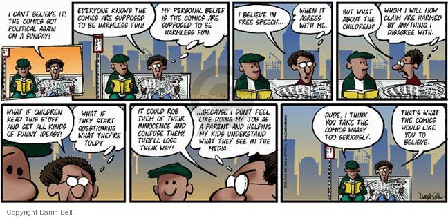 Comic Strip Darrin Bell  Candorville 2005-03-13 freedom of speech