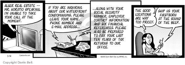 Comic Strip Darrin Bell  Candorville 2005-03-14 tax