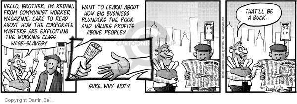Cartoonist Darrin Bell  Candorville 2005-03-21 read
