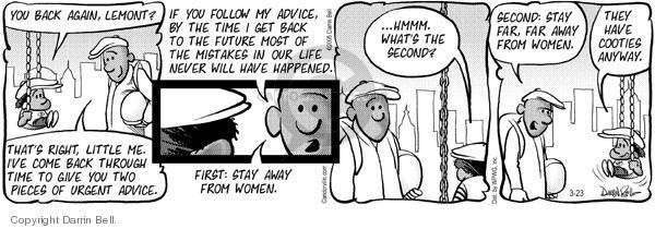 Cartoonist Darrin Bell  Candorville 2005-03-23 cookie