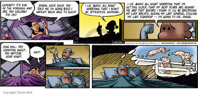 Cartoonist Darrin Bell  Candorville 2005-03-27 good night
