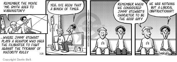 Comic Strip Darrin Bell  Candorville 2005-03-28 political debate