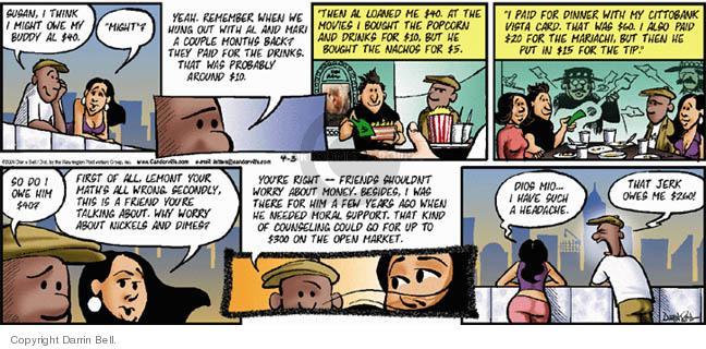 Comic Strip Darrin Bell  Candorville 2005-04-03 math