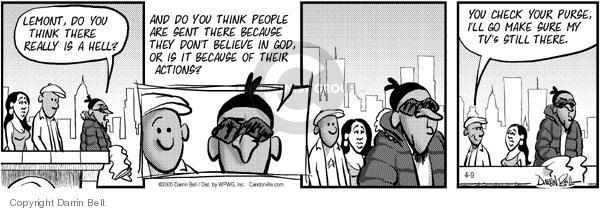 Comic Strip Darrin Bell  Candorville 2005-04-09 robbery