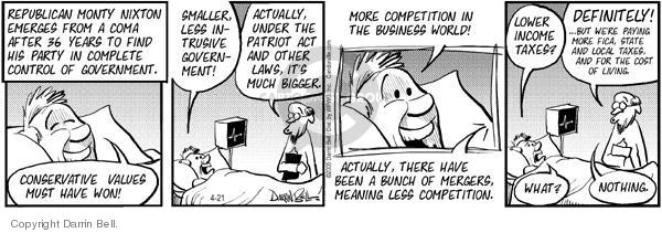 Comic Strip Darrin Bell  Candorville 2005-04-21 republican party