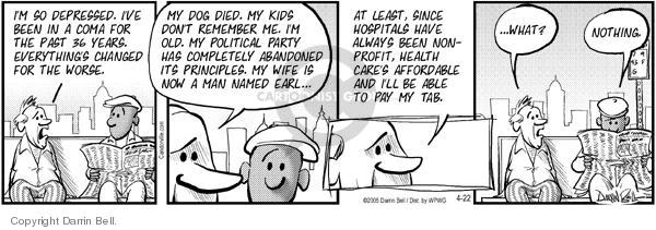 Comic Strip Darrin Bell  Candorville 2005-04-22 political party