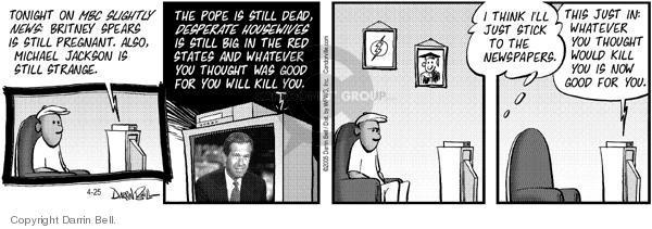 Comic Strip Darrin Bell  Candorville 2005-04-25 newspaper