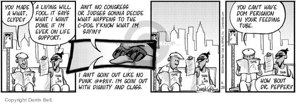Comic Strip Darrin Bell  Candorville 2005-04-28 feeding tube