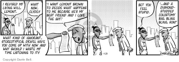 Comic Strip Darrin Bell  Candorville 2005-04-29 diamond