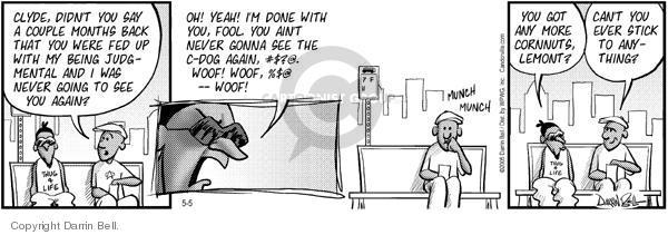 Cartoonist Darrin Bell  Candorville 2005-05-05 snack