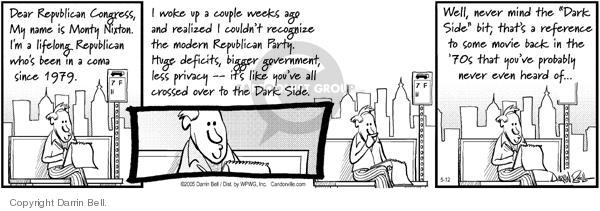 Comic Strip Darrin Bell  Candorville 2005-05-12 republican party