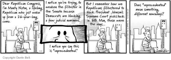 Comic Strip Darrin Bell  Candorville 2005-05-13 republican party