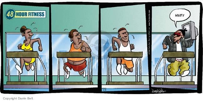 Comic Strip Darrin Bell  Candorville 2005-05-15 gym