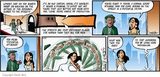 Comic Strip Darrin Bell  Candorville 2005-05-22 defense