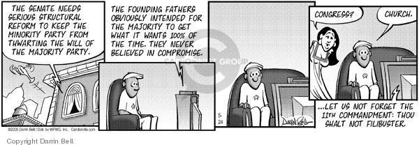 Cartoonist Darrin Bell  Candorville 2005-05-24 Constitution