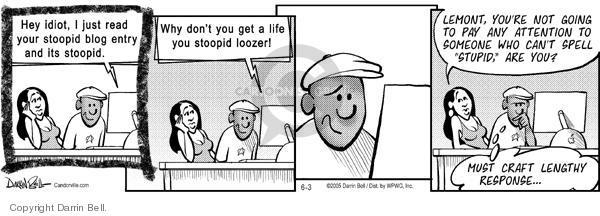 Comic Strip Darrin Bell  Candorville 2005-06-03 world