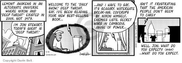 Comic Strip Darrin Bell  Candorville 2005-06-18 Richard Nixon