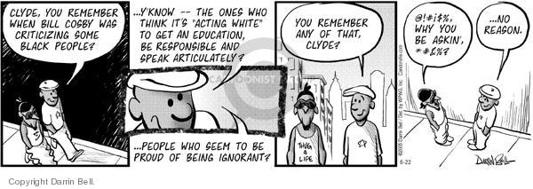 Cartoonist Darrin Bell  Candorville 2005-06-22 language