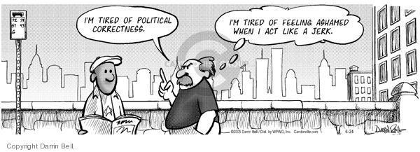 Cartoonist Darrin Bell  Candorville 2005-06-24 politics