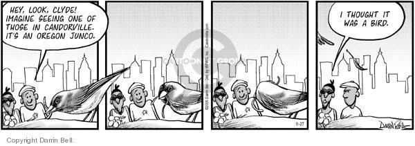 Cartoonist Darrin Bell  Candorville 2005-06-27 hey