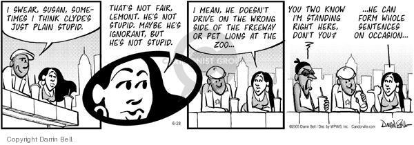 Comic Strip Darrin Bell  Candorville 2005-06-28 lion