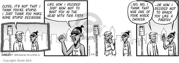 Comic Strip Darrin Bell  Candorville 2005-06-30 hit