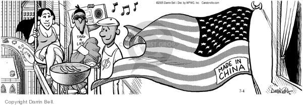 Cartoonist Darrin Bell  Candorville 2005-07-04 barbecue