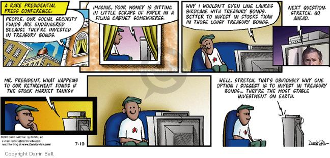 Comic Strip Darrin Bell  Candorville 2005-07-10 stock market