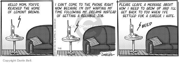 Cartoonist Darrin Bell  Candorville 2005-07-16 parenting lifestyle