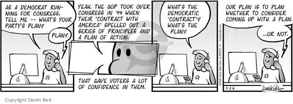 Comic Strip Darrin Bell  Candorville 2005-07-26 democratic party