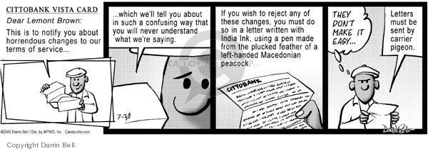Cartoonist Darrin Bell  Candorville 2005-07-30 language