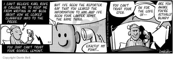 Cartoonist Darrin Bell  Candorville 2005-08-03 freedom of the press
