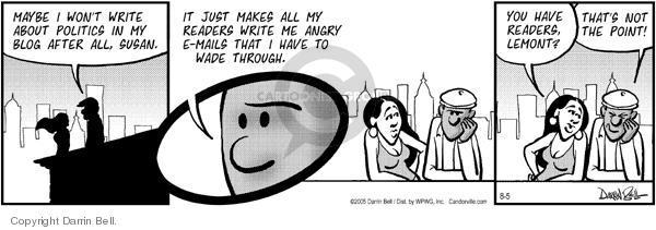 Comic Strip Darrin Bell  Candorville 2005-08-05 wade