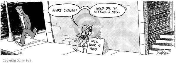 Comic Strip Darrin Bell  Candorville 2005-08-20 employment