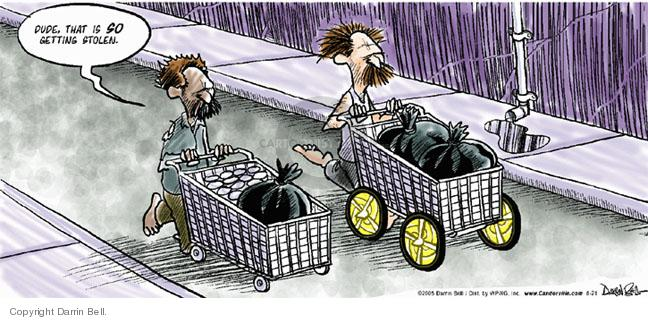 Cartoonist Darrin Bell  Candorville 2005-08-21 language