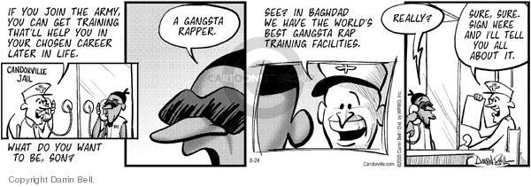Comic Strip Darrin Bell  Candorville 2005-08-24 gangsta