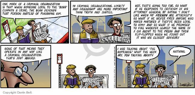 Comic Strip Darrin Bell  Candorville 2005-08-28 CIA agent
